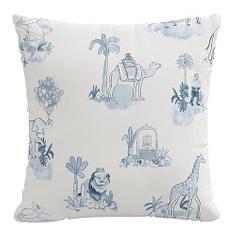Blue toile decorative Pillow | One Kings Lane